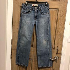 Size 16 Boys Levi 569 Jeans Loose Straight
